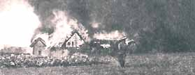A belorussian village is burning, 1915